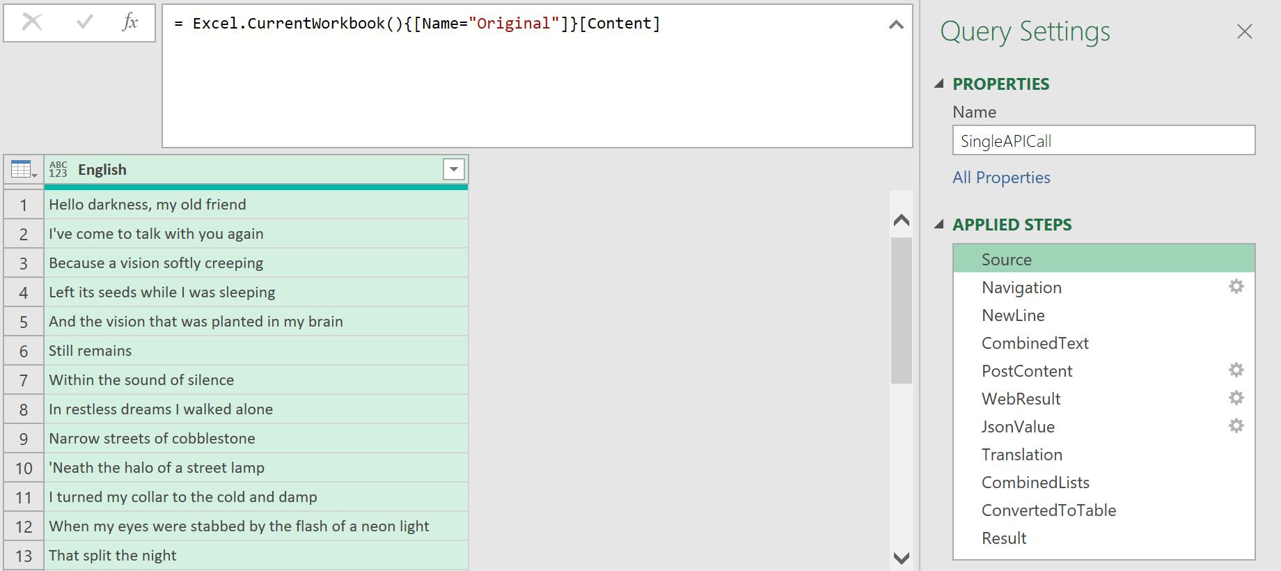 Excel.CurrentWorkbook function