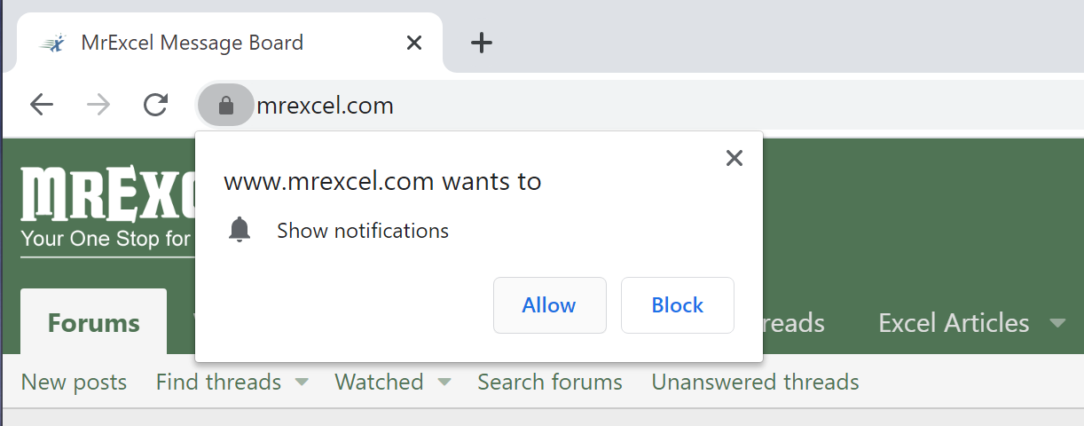 Browser confirmation