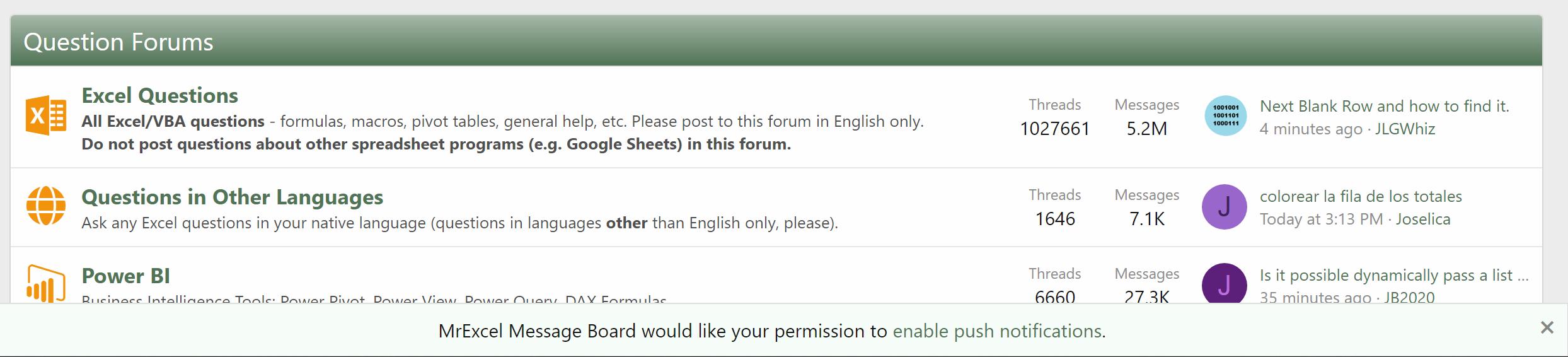 Push notifications message