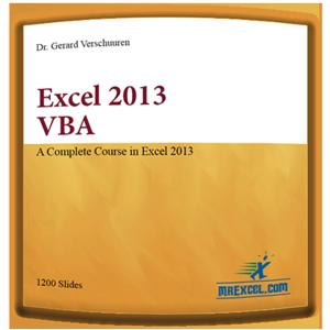 """Excel 2013 VBA"", by Dr. Gerard M. Verschuuren"