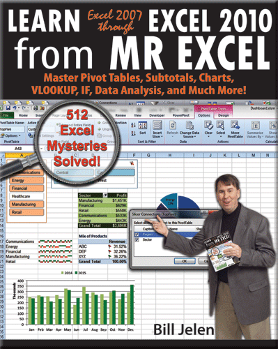 """Learn Excel 2007 through Excel 2010 from MrExcel"""
