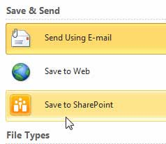 Save to SharePoint
