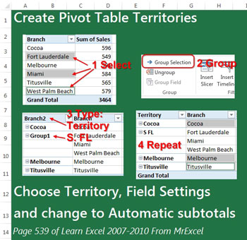 easy territories in excel pivot tables excel tips mrexcel publishing