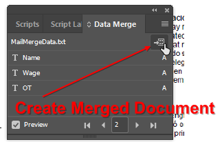 Indesign Create Merged Document