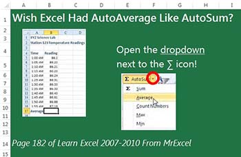 Wish Excel Had AutoAverage Like AutoSum?