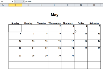 Month changed to May