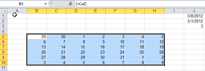 Change the array formula with the named formula