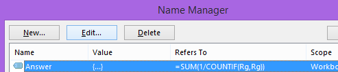 Defined Names in Name Manager