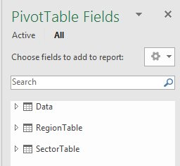 Choose fields from any of these tables