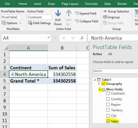 Creating a Hierarchy in a Pivot Table - Excel Tips - MrExcel Publishing