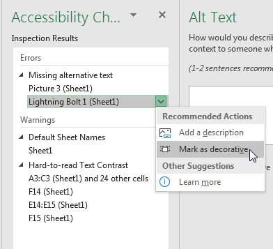 Check Accessibility in Excel - Excel Tips - MrExcel Publishing