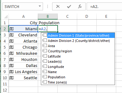 Geography Data Type - Excel Tips - MrExcel Publishing