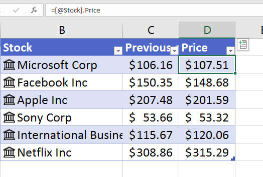 Stock Data Types in Excel - Excel Tips - MrExcel Publishing