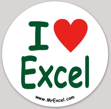 I ♥ Excel sticker