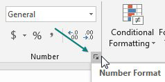 Instead of clicking the Comma icon, use the Number Format dialog launcher just below the Decrease Decimal icon.