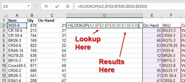 XLOOKUP To Left