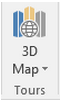 3D Map is a new icon to the right of the Charts group on the Insert tab.