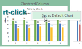 In the Dialog box with all of the chart types, right-click on any chart tile and choose Set As Default Chart.