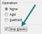 In the Paste Special dialog, choose the box for Skip Blanks.