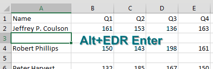There are also blank rows between each row of data. Alt+E D R from the first blank row deletes it.