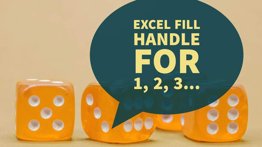 Excel Fill Handle 1, 2, 3