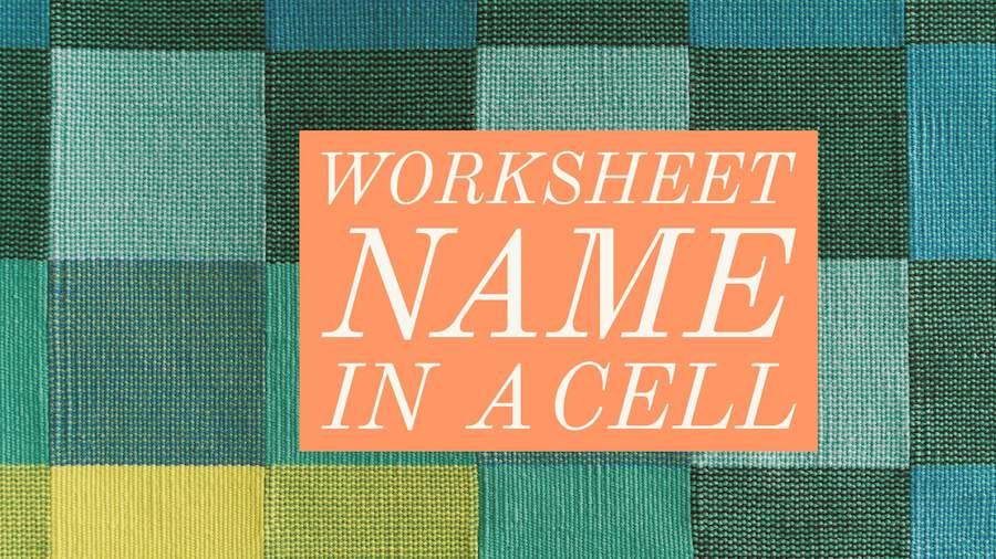 Worksheet Name in Cell - Excel Tips - MrExcel Publishing