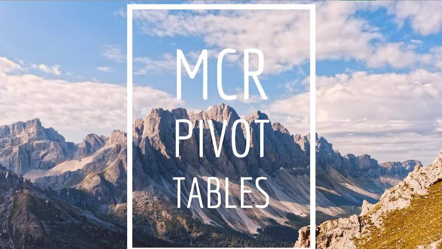 Consolidating to a Pivot Table