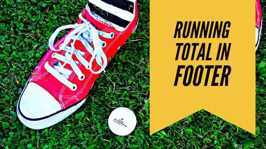 Running Total in Footer