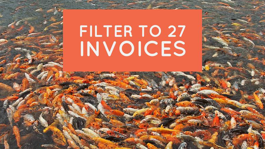 Filter to 27 Invoices