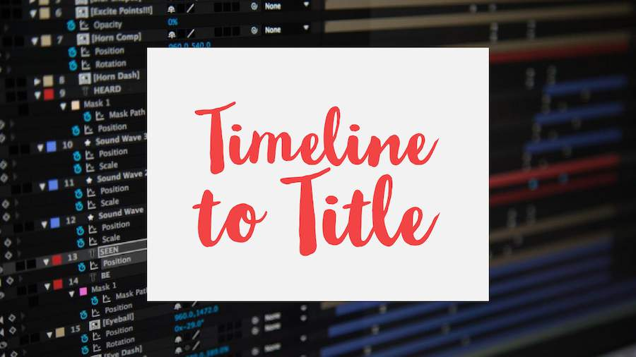 Pivot Timeline to Title