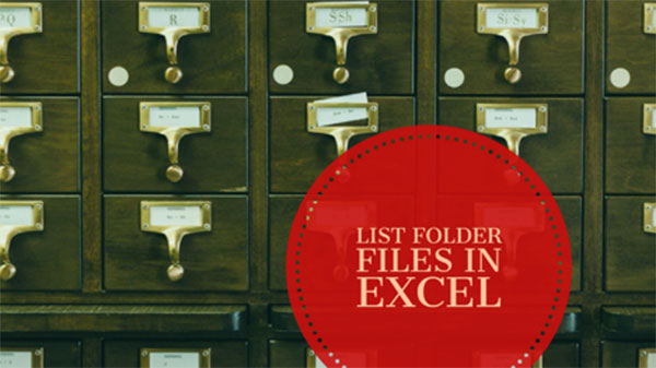 List all Files in a Folder in Excel Using Power Query