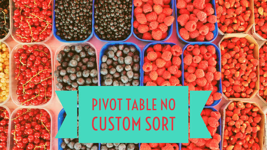 Pivot Table No Custom Sort