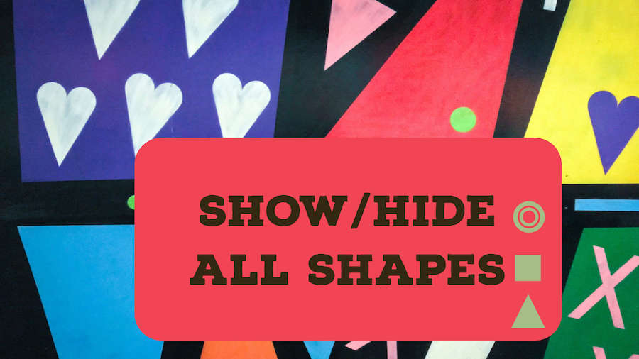 Show or Hide All Shapes