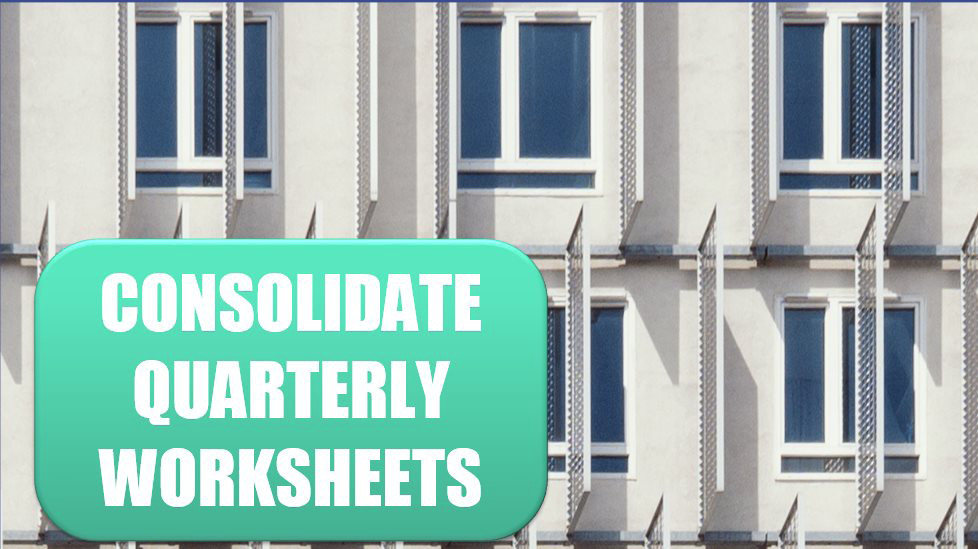 Consolidate Quarterly Worksheets. Photo Credit: Pierre Châtel-Innocenti at Unsplash.com