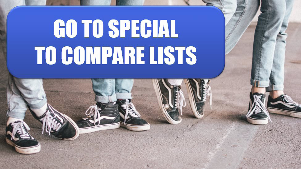 Excel Compare Two Lists by Using Go To Special. Photo Credit: Ben Weber at Unsplash.com
