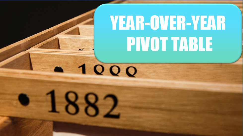 Create a Year-over-Year Report in a Pivot Table. Photo Credit: Henry & Co at Unsplash.com