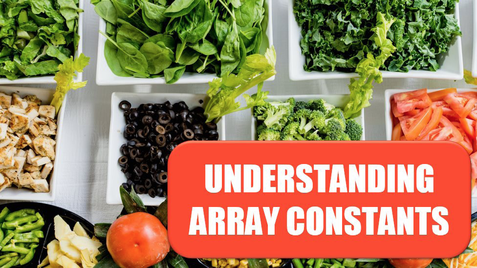 Excel Understanding Array Constants. Photo Credit: Dan Gold at Unsplash.com