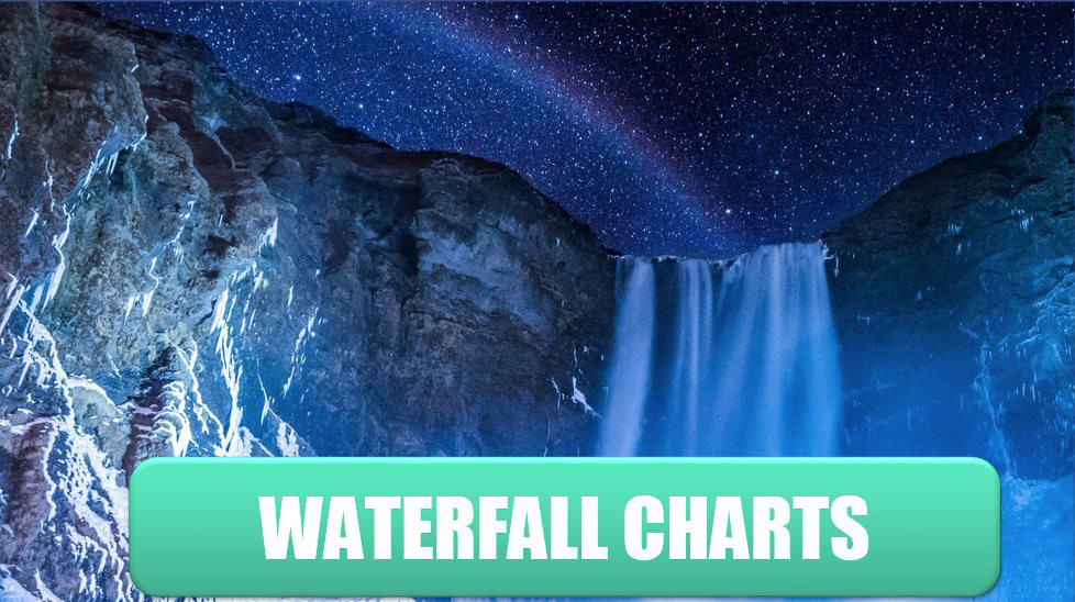 Create Waterfall Charts. Photo Credit: Jonatan Pie at Unsplash.com