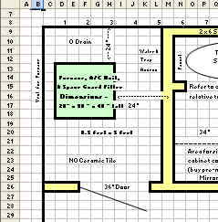 Excel Worksheet as a Graph Paper