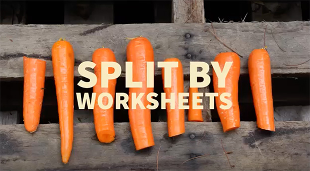 Split Workbook by Worksheets in Excel