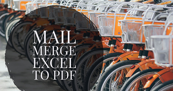 Mail Merge to PDF from Excel