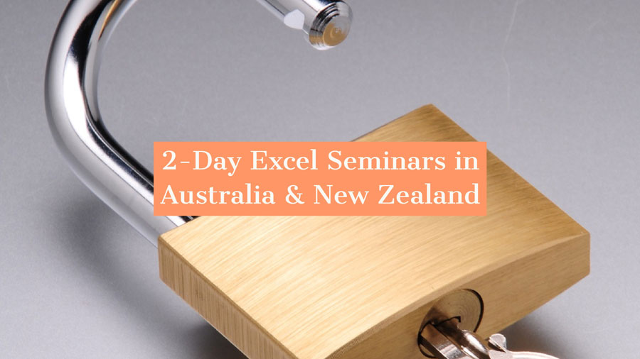 2-Day Seminars in Australia and New Zealand