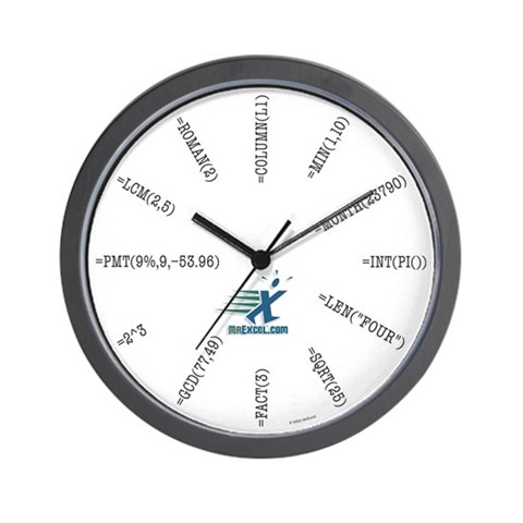 Excel Function Wall Clock
