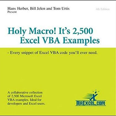 2500 Excel VBA Examples