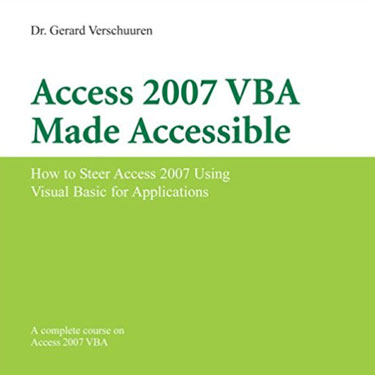 Access 2007 VBA Made Accessible
