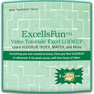 ExcelIsFun™ Video Tutorial: The Excel LOOKUP - on DVD