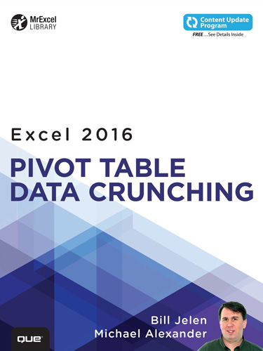 Pivot Table Data Crunching Microsoft Excel 2016