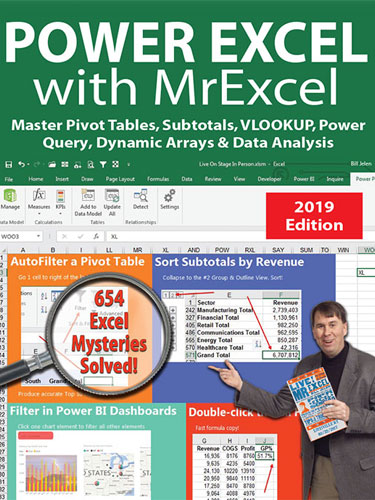Power Excel With MrExcel - 2019 Edition