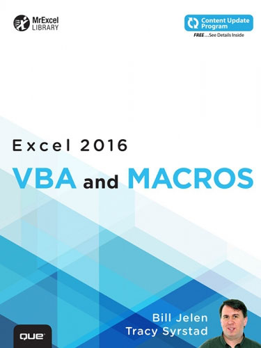 VBA and Macros Microsoft Excel 2016