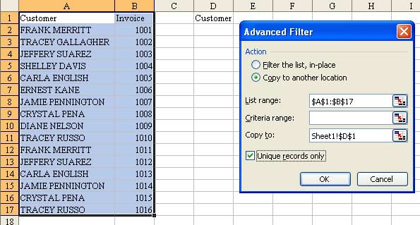 Removing Duplicates in Excel - TechTV Articles - MrExcel Publishing